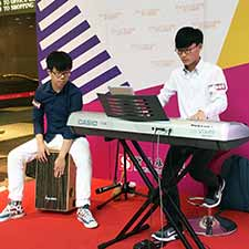 Keyboard Cajon @ Sun Arcade Music Performance