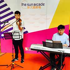 Violin Keyboard @ Sun Arcade Music Performance