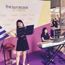Sun Arcade Flute Keyboard Duet Music Performance
